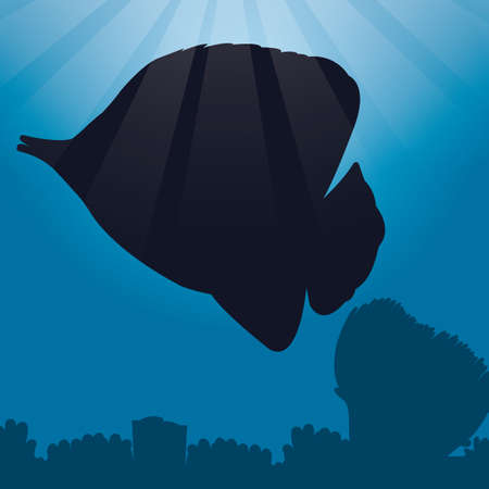 tang: tang fish silhouette Illustration