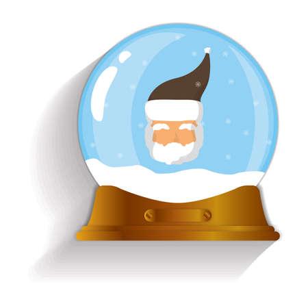 snow globe: santa claus snow globe Illustration