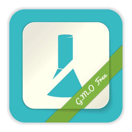 gmo: gmo free label Illustration