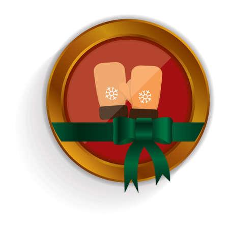 mittens: winter mittens button
