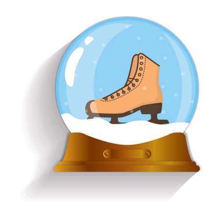 snow globe: ice skate snow globe