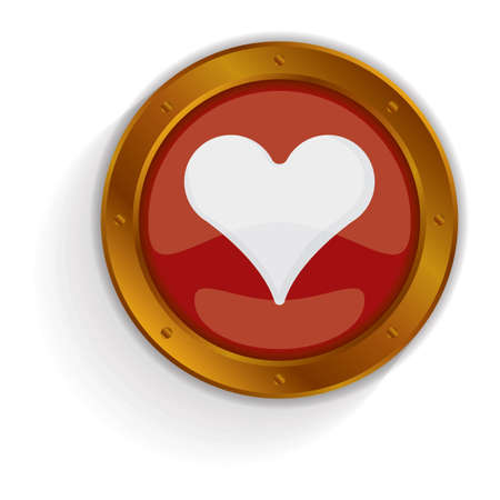 button: heart button