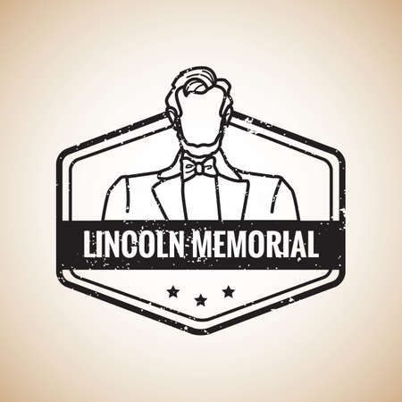 president of the usa: lincoln memorial label