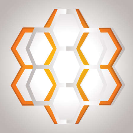 cut outs: honeycomb design Illustration