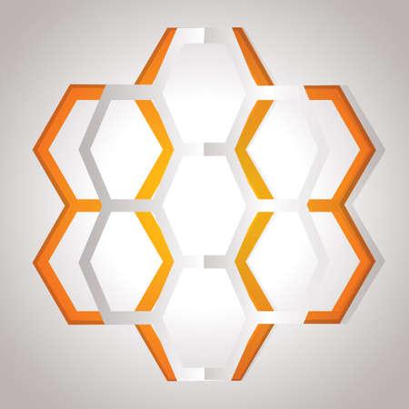 cut outs: honeycomb design Illustration