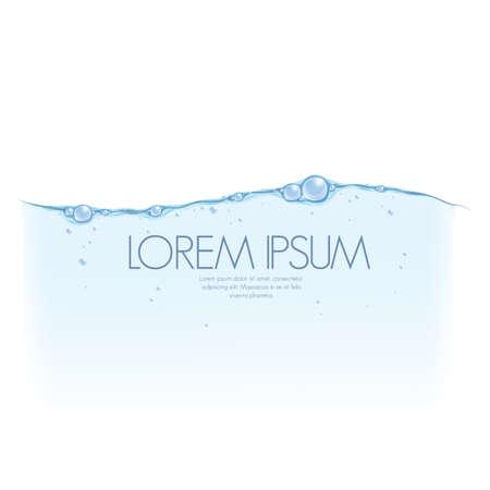 burbujas de agua poster