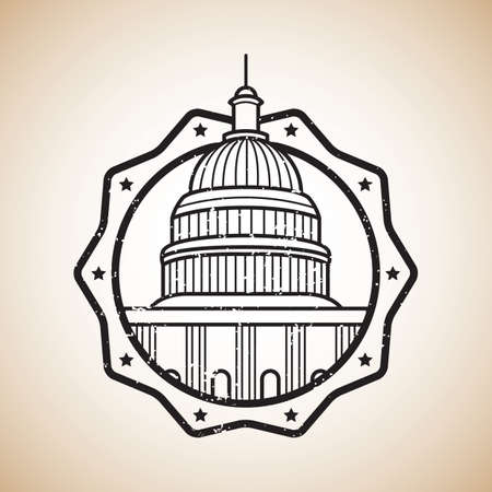 the capitol: usa capitol label Illustration