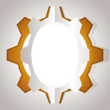 cut outs: cogwheel Illustration