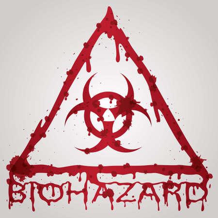 biohazard: bloody biohazard sign Illustration