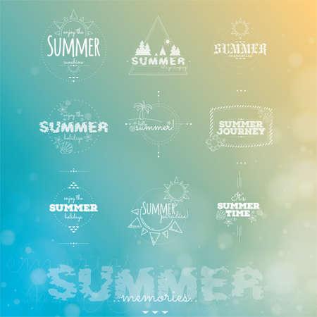 typographies: set of summer typographies Illustration