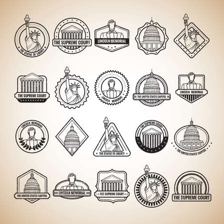 supreme court: collection of usa labels