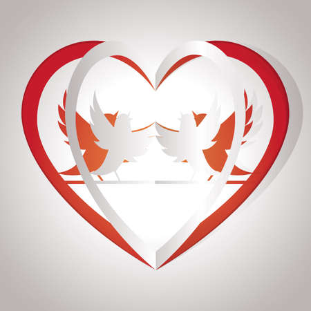 cut outs: love birds Illustration