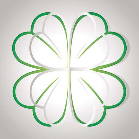 cut outs: shamrock Illustration