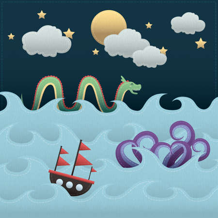 mythical: mythical creatures in the sea