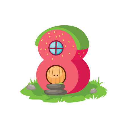 windows 8: number eight Illustration