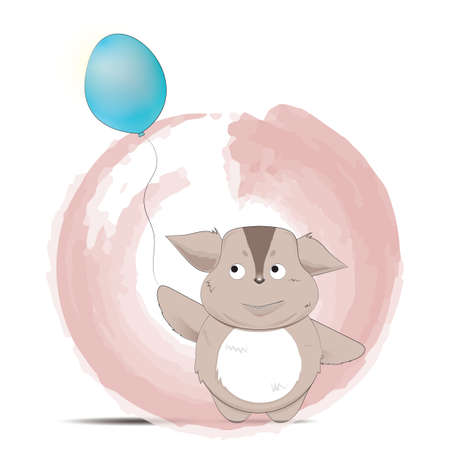creature: creature cartoon holding a balloon