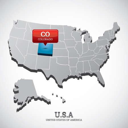 colorado: colorado state on the map of usa
