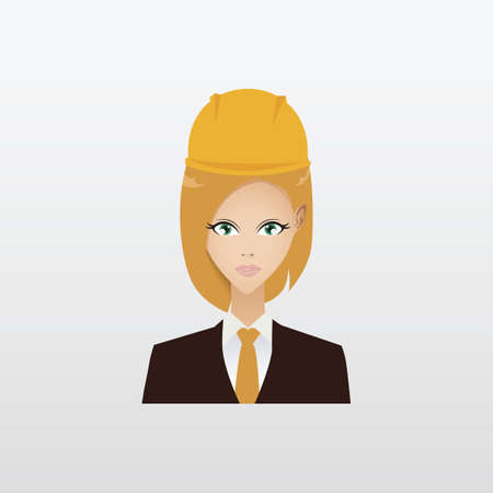 woman engineer: construction woman engineer Illustration