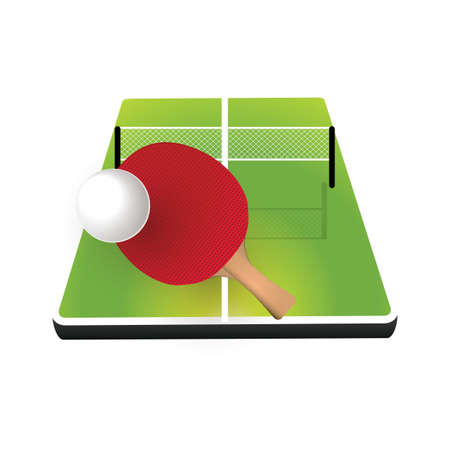 table tennis: table tennis Illustration