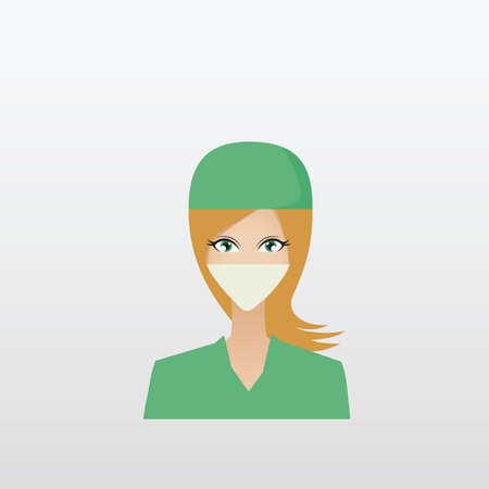surgical mask: woman surgeon
