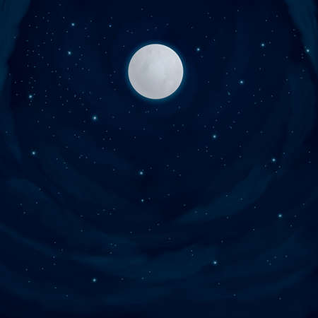 night: night sky background Illustration