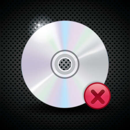 canceled: compact disk with canceled mark