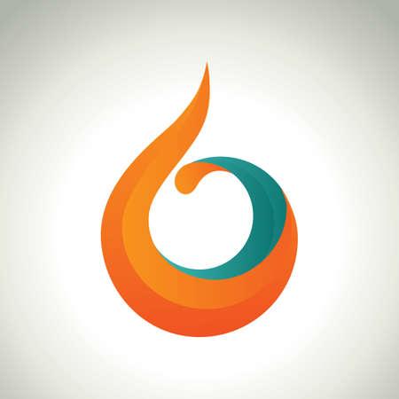 icono abstracta  Ilustración de vector