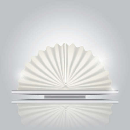 folded: fan folded napkin