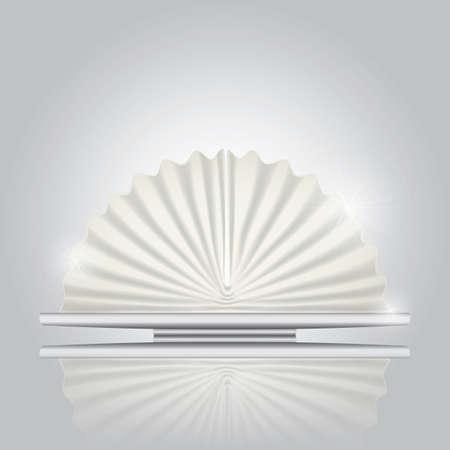 servilleta: ventilador servilleta doblada Vectores