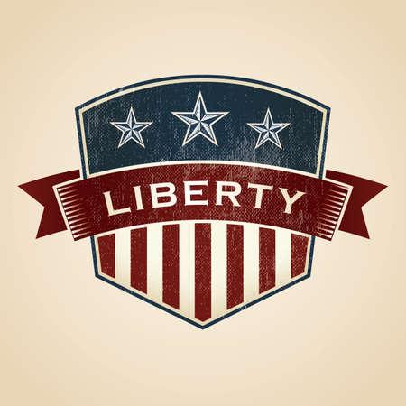 liberty: liberty badge Illustration
