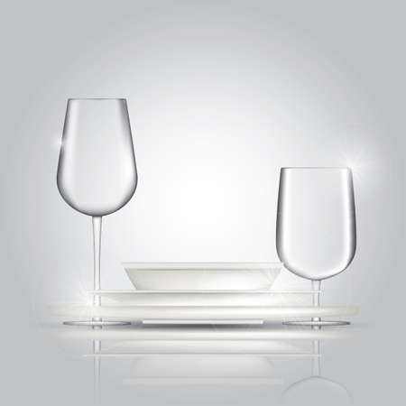 glassware: plates and glassware
