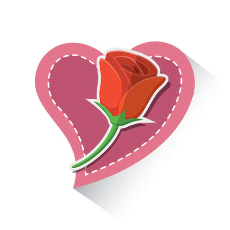 red rose: valentine red rose Illustration