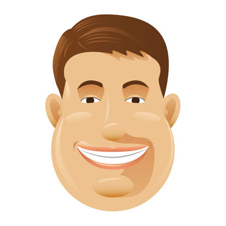 awkward: man with awkward smile Illustration