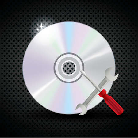 compact: compact disc with setting tool