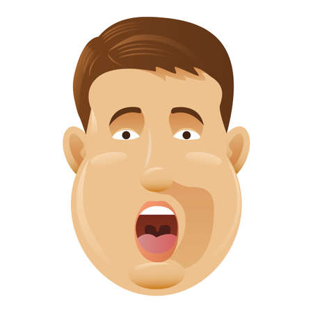shocked man: man shocked Illustration