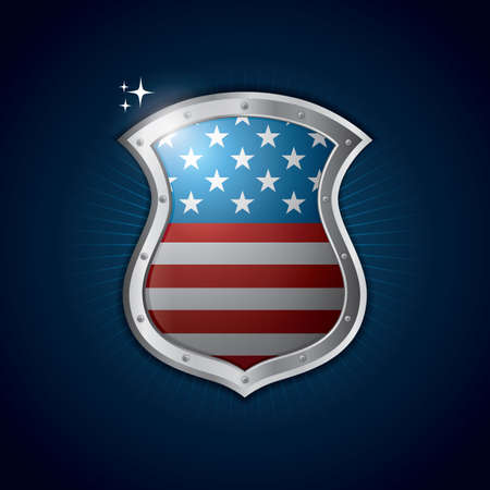 flag: usa flag shield