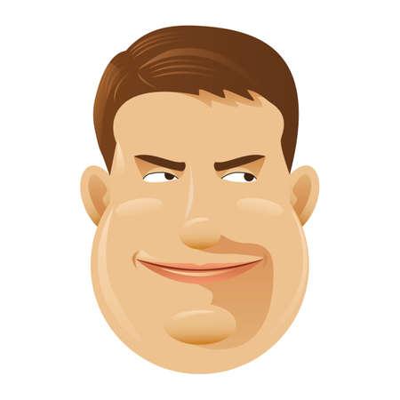 scheming: man with scheming smile