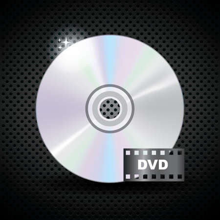 compact disk: compact disk with film strip icon
