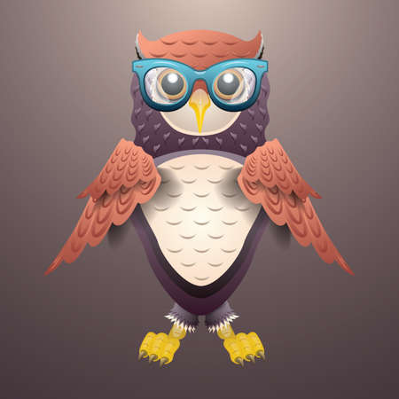 wearing spectacles: owl wearing spectacles