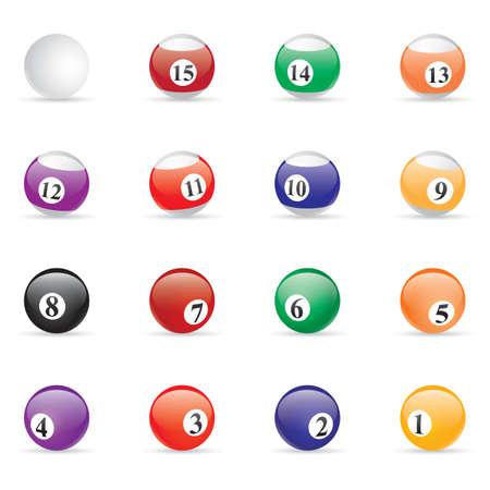 snooker balls: snooker balls Illustration