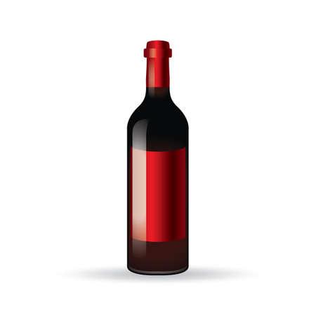 booze: wine bottle Illustration
