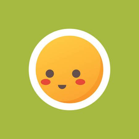 blushing: blushing emoticon Illustration