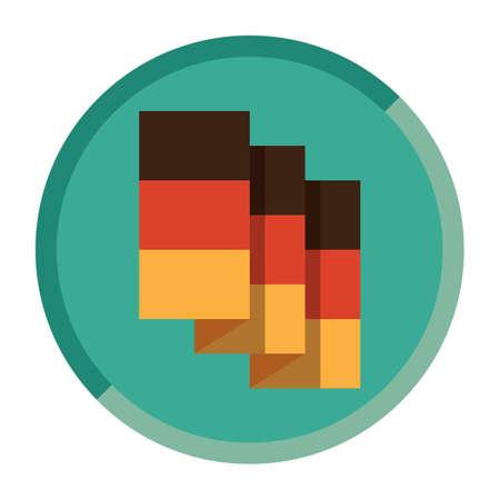 folded: folded germany flag