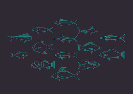 fishes: fishes Illustration