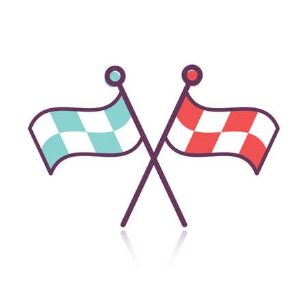 racing flag: racing flag Illustration