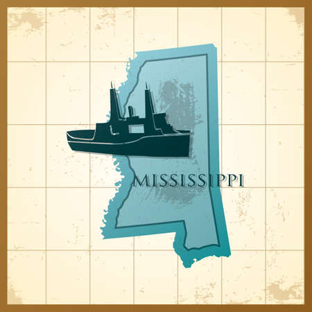 mississippi: map of mississippi state
