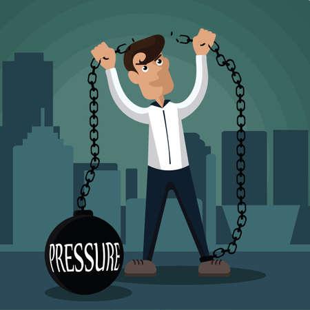 breaking: businessman breaking pressure