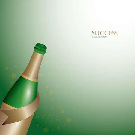 Champagne-pictogram Stock Illustratie