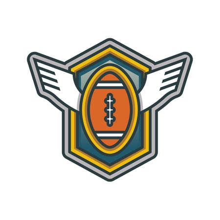 An american football label illustration.