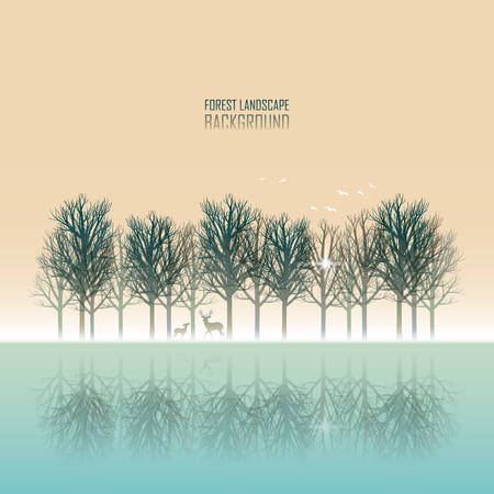 Forest landscape Иллюстрация
